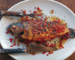 Baked Trout with Jamon Serrano