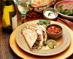 Turkey Tacos with Red Pepper Salsa
