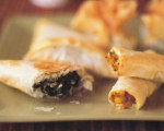 Butternut Squash, Corn, and Cilantro Phyllo Rolls