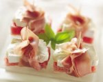Prosciutto Wrapped Watermelon and Brie Fingers