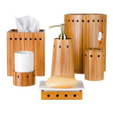 Bathroom decorating ideas bamboo bath caddy for Bamboo bathroom design