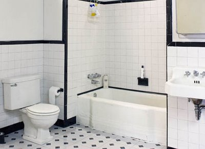 Black and white bathroom ideas black and white tiled bathroom - Black and white bathrooms pictures ...