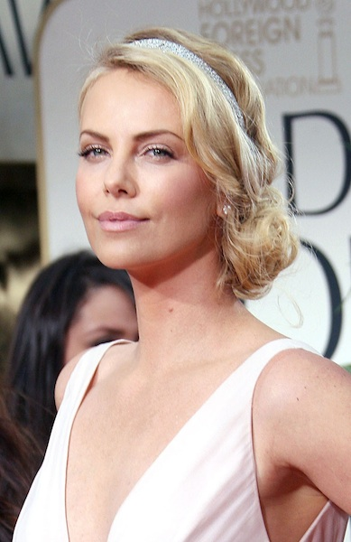 wedding hairstyles charlize theron