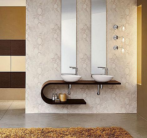 Minimalist bathrooms geometric shapes for Minimalist bathroom ideas