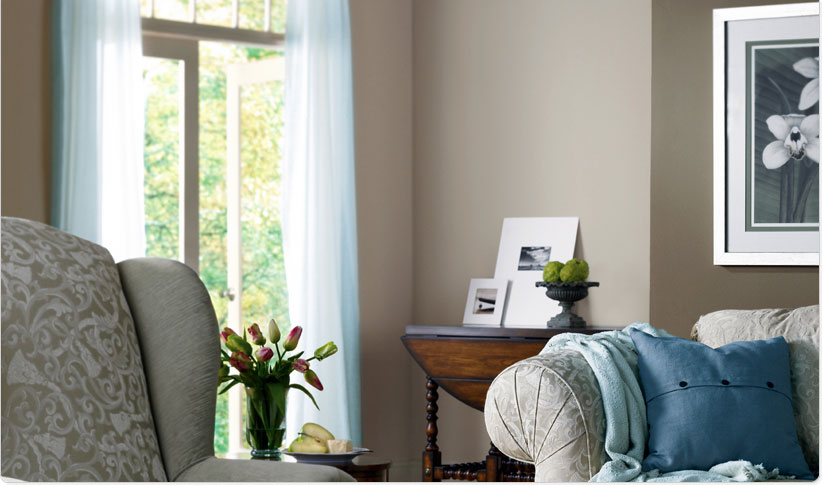 Neutral Themes Monochromatic Calm Living Room