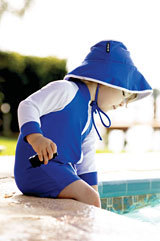 Sunsafe swimsuit and hat