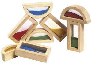 sand filled wooden blocks