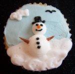 winter baby cupcake
