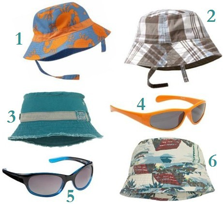 baby-boy-summer-hats-and-sunglasses