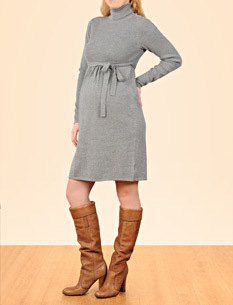 long-sleeve-tie-front-maternity-dress