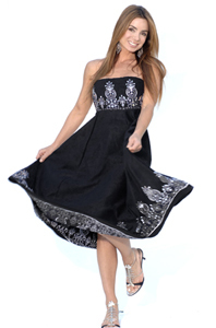 sueded-sequin-maternity-dress