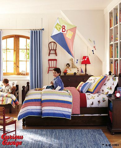 From Pottery Barn Kids Curious George Bedroom Daisy Garden Bedroom