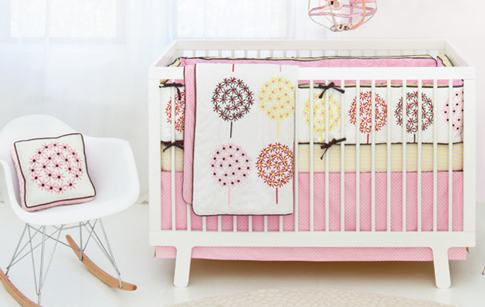Beautiful baby bedding, Skip Hop, Flower Burst bedding set, nursery bedding, mod baby, modern baby nursery, baby nursery, baby bedding, baby girl room, nursery decor, little princess decor
