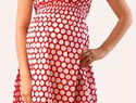 Stay cool with a lightweight summer maternity dress