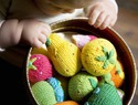 Baby holiday gift guide - knit baby rattles