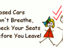 Car safety for babies - don't leave baby in the car!
