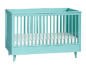 Hip moms will love these colorful cribs from Pottery Barn Kids