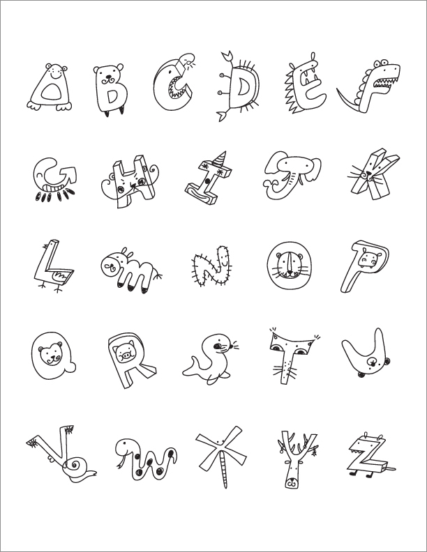 Animal Alphabet Colouring Pictures B Alphabet Animal Colouring Pages