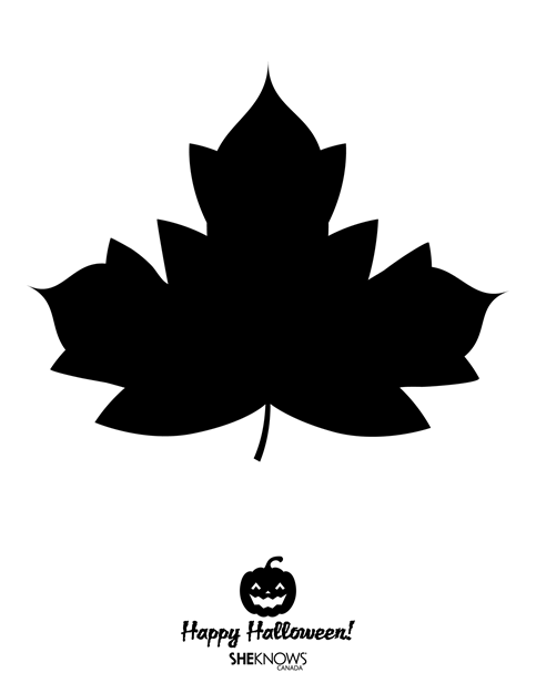 Pumpkin Carving Template - Maple Leaf