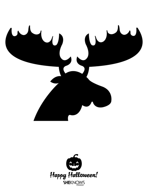 Pumpkin Carving Template - Moose